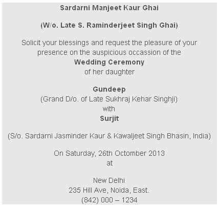Wedding Card Wordings   Event Management India