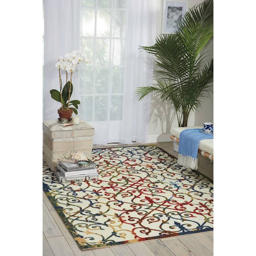 nourison home and garden multicolor indoor outdoor rug 79 x 1010 - Pd Home And Garden