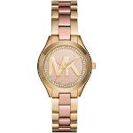 Michael Kors Women's Slim Runway MK3650 Gold Stainless-Steel Quartz Dress Watch