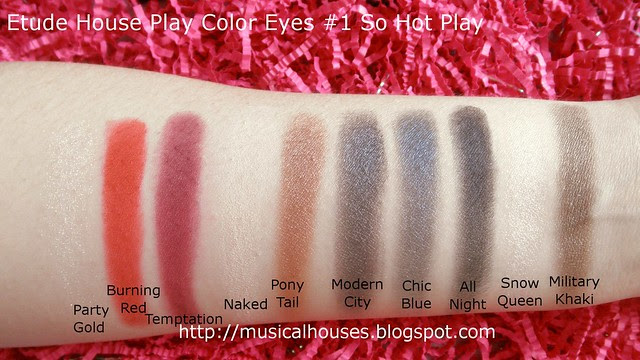 Etude House Play Color Eyes Palettes Swatches So Hot Play 1