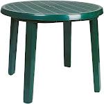 "Compamia Ronda Round Resin Patio Dining Table, Green, 35.5"""