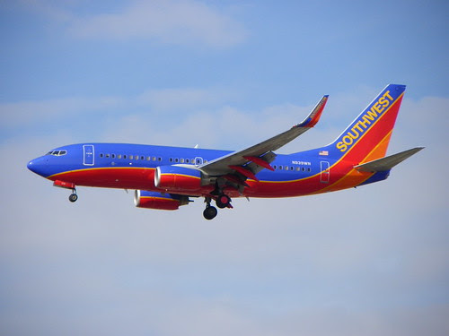 Southwest plane landing at Chicago Midway