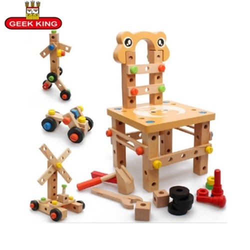 3D Montessori Educational toys wooden screw math toy for ...