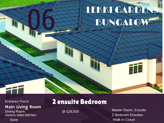 Lekki Gardens Summer offer!. Bungalows @ N9.95Million Naira - www.mercyhomes.com
