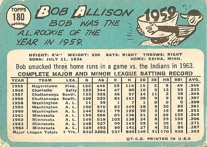 Bob Allison (back) by you.