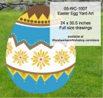Easter Egg Yard Art Woodworking Pattern - fee plans from WoodworkersWorkshop® Online Store - flowers,easter eggs,yard art,painting wood crafts,scrollsawing patterns,drawings,plywood,plywoodworking plans,woodworkers projects,workshop blueprints