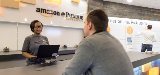 Amazon launches its first staffed pickup and drop-off location at Purdue University