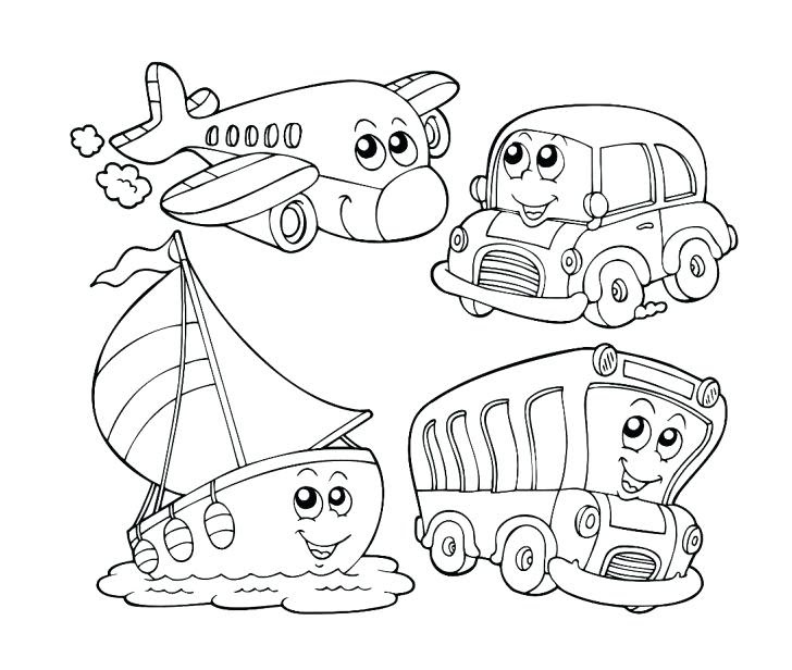 80 Top Coloring Pages For Transportation  Images