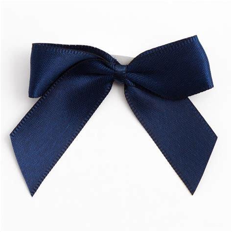 Navy Blue Self Adhesive Satin Ribbon Satin Bows, Favour This