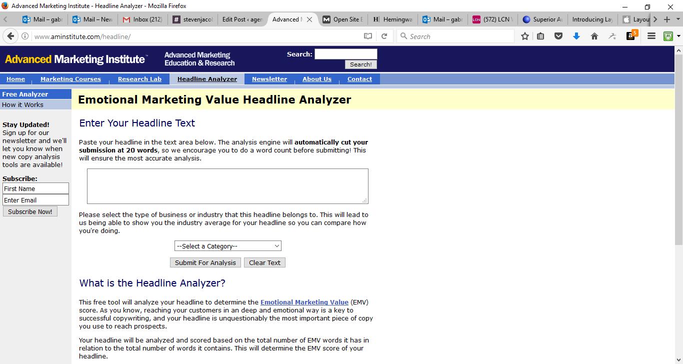 50 Free Marketing Tools Any Small Business Can Use - Headline Analyzer