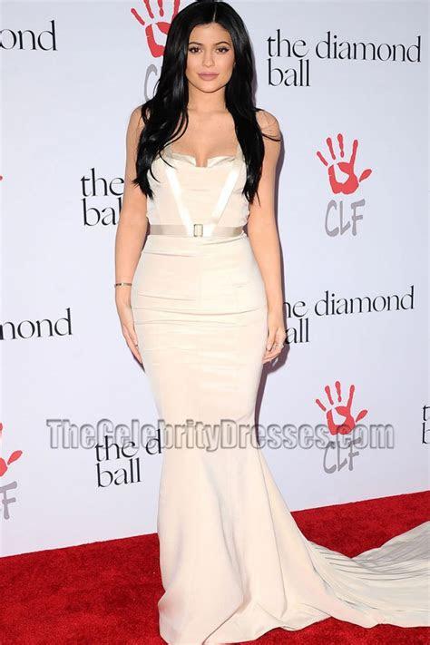 kylie jenner elegant mermaid evening formal dress  annual diamond ball thecelebritydresses