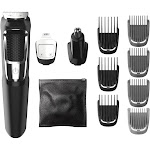 Philips Norelco Series 3000 Multigroom Men's Rechargeable Electric Trimmer - MG3750/60 - 13pc