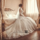 High Neck Long Sleeve Muslim Wedding Dress Vintage Vestido