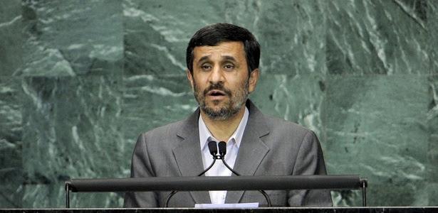 Mahmud Ahmadinejad, presidente do Irã, discursa sobre os Objetivos do Milênio, na sede da ONU, em Nova York