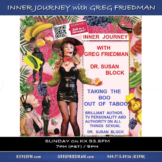 "Take the BOO out of Taboo with Dr. Suzy on Inner Journey 93.5 FM this Sunday | ""Cougar Kink"" Now Playing on DrSuzy.Tv 