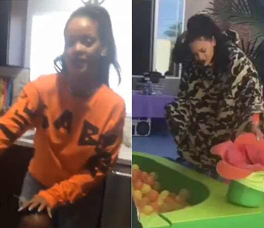 Rihanna Hits Up Kids Party in Life's A Beach Streetwear - Haus of Rihanna