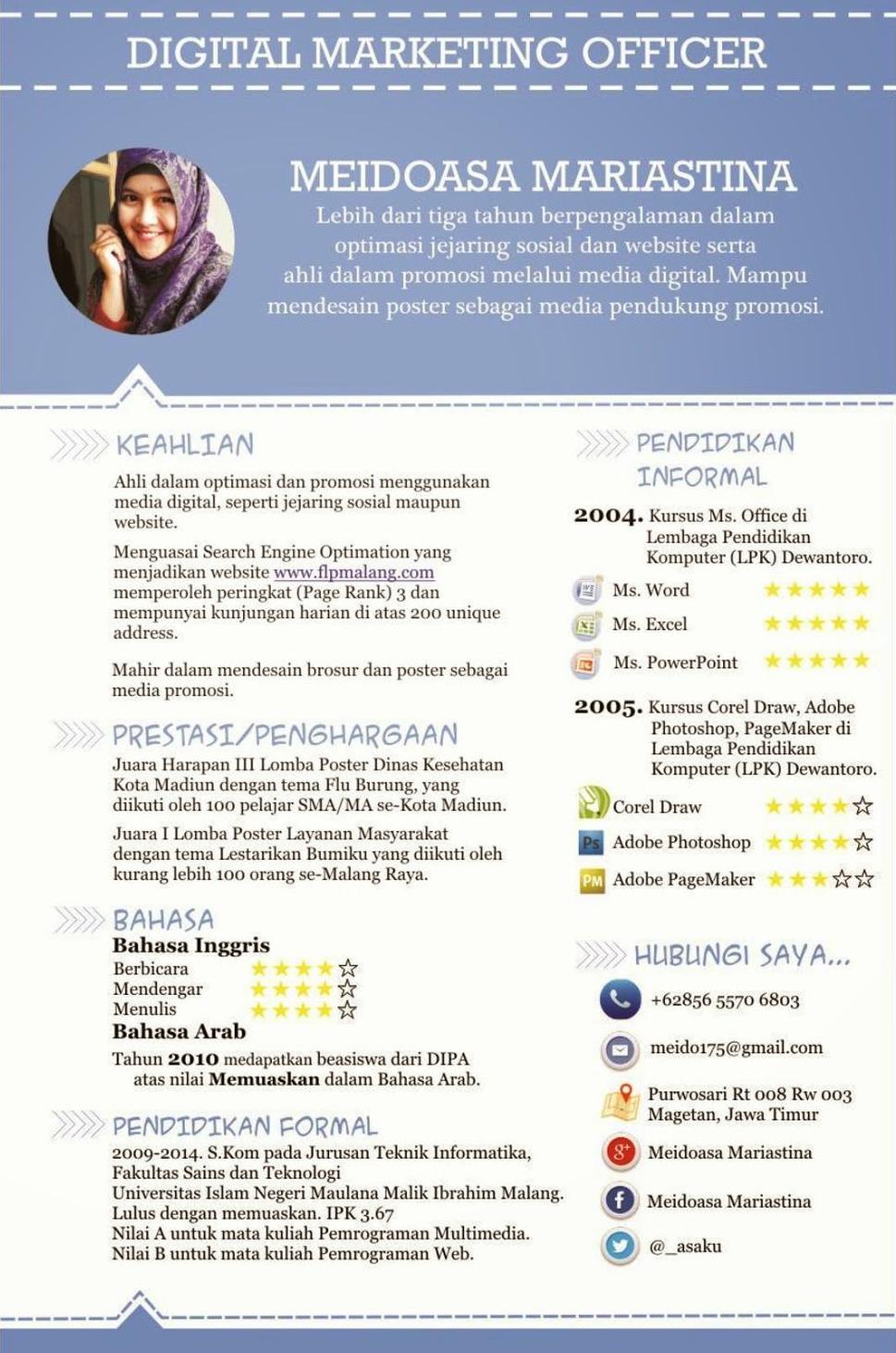 Contoh Cv Kreatif Indonesia Best Resume Examples