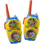 eKids Toy Story 4 FRS Walkie Talkies with Lights and Sounds Kid Friendly Easy to Use Packaging