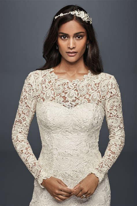 Long Sleeve Lace Wedding Dress with Open Back Melissa