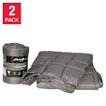 Eddie Bauer Home Packable Down Alternative Throw, 2 Pack, Gray