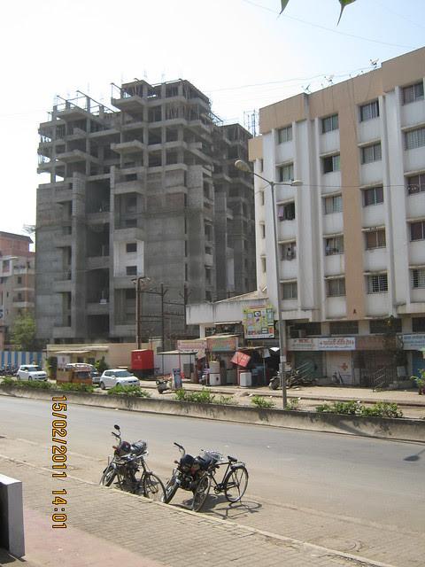 Om Developer's Aishwarya Residency 3 BHK Flats at Kaspate Wasti Wakad Pune 411 057 - view from Kalewadi Phata