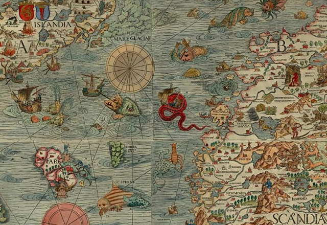 Excerpt from Olaus Magnus' Map of Scandinavia 1539