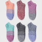 Women's Spacedye 6pk Low Cut Socks - Xhilaration One size, Women's, Multicolored