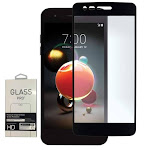 LG Fortune 2 - LG Fortune 2 Full Edge Colored Tempered Glass Screen Protector, Black