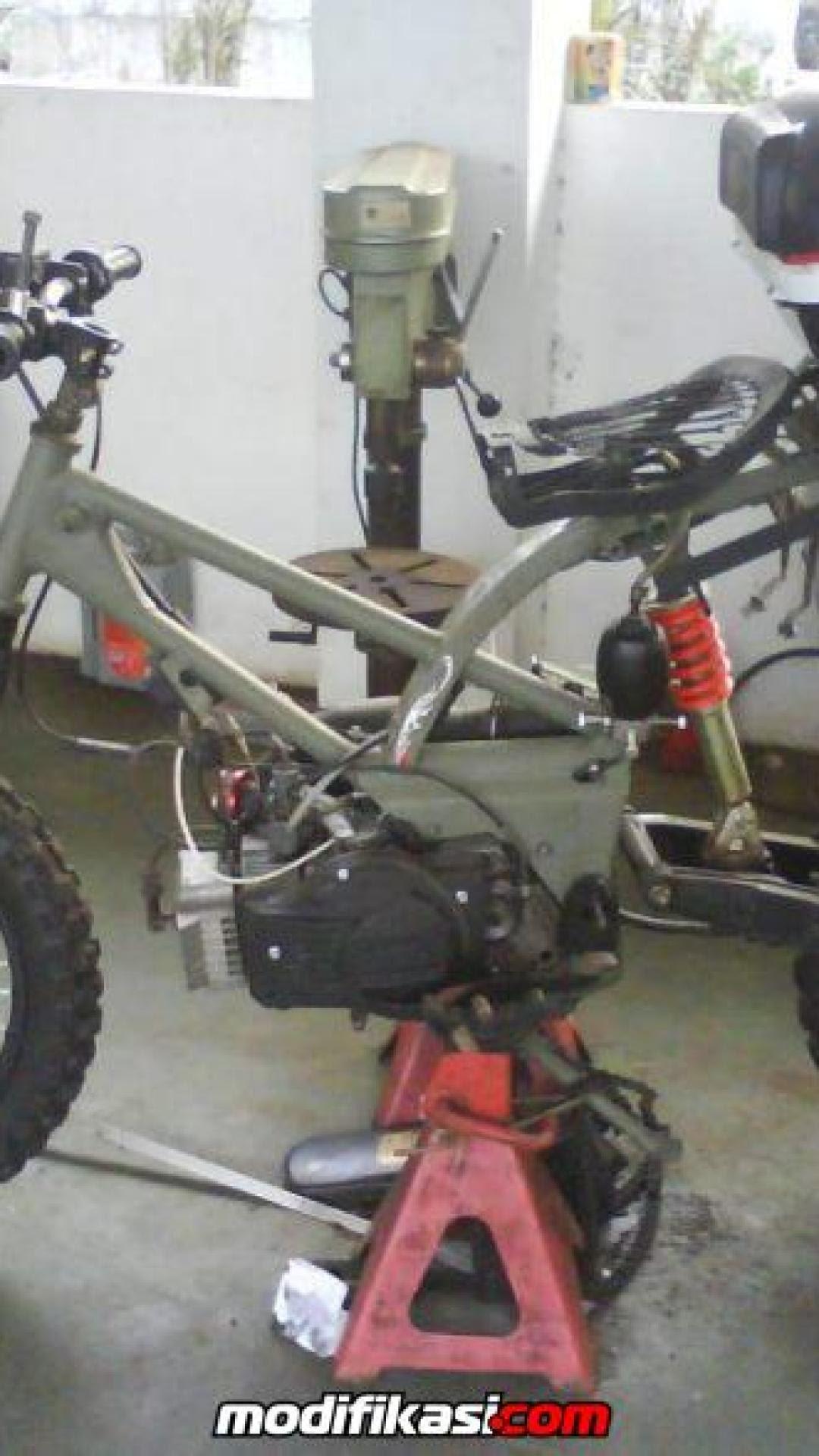 Modifikasi Rc 100 : modifikasi, Modifikasi, Motor, Suzuki, Bravo, Terbaik, Terupdate, Togog, Modif