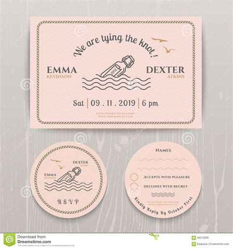 Nautical Message In The Bottle Wedding Invitation And RSVP
