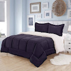 Sherpa Reversible Comforter and Sham Set - Sweet Home Collection
