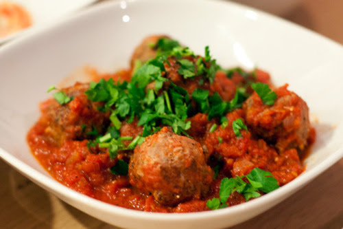 Spanish Meatballs with Spicy Tomato Sauce Recipe