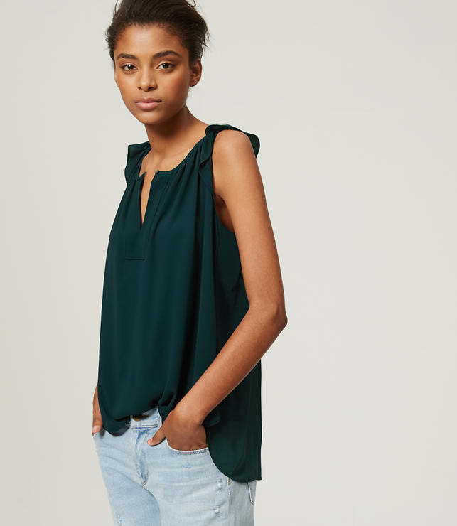 Primary Image of Ruffled Sleeveless Blouse