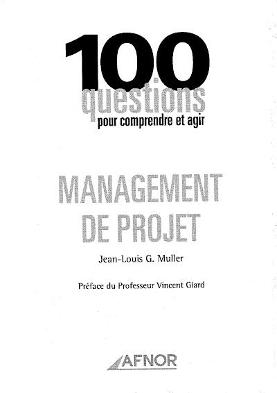 Télécharger le Livre : Management de projet.pdf