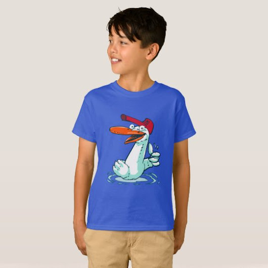 sweet duck on the lake cartoon T-Shirt
