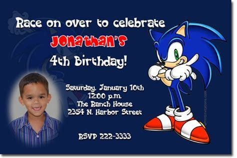 Sonic the Hedge Hog Birthday Invitations, Candy Wrappers