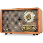 Victrola Retro Wood Bluetooth FM/AM Radio with Rotary Dial