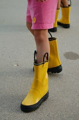 Lovin' the rain boots in July!