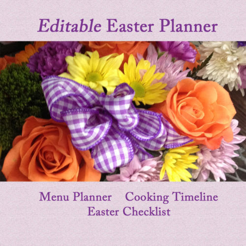 Hosting Easter? Use our Editable Easter Planner to Stay Organized - Running A Household