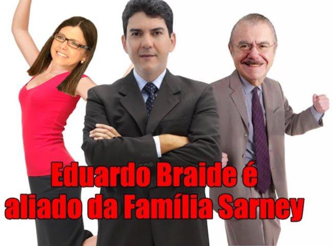 Eduardo Braide tenta esconder apoio da família Sarney