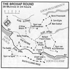 Jon Broxap's 28 Munro route completed in 1988