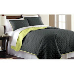 Pacific Coast 3-pc. Solid Reversible Coverlet Set, Grey, Queen