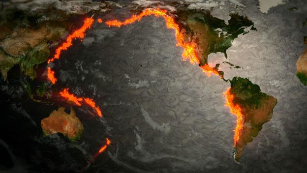 Anello di Fuoco Oceano Pacifico