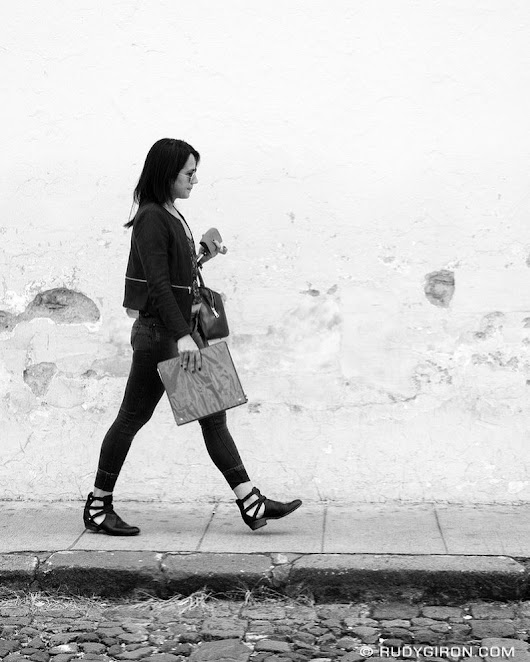 "Hello friends, today I bring you a ""Woman on the move, Antigua Guatemala."""