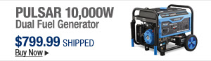 Newegg Flash - Pulsar 10,000w Dual Fuel Generator