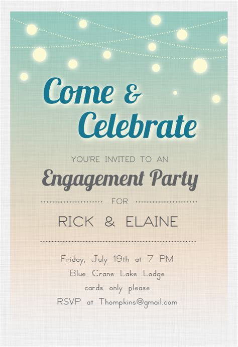 Celebrate Engagement   Engagement Party Invitation