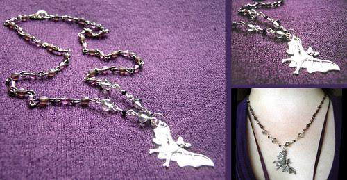 Beady Bat Necklace