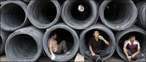 Rolled steel at Taiyuan, north China