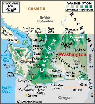 washington washington map