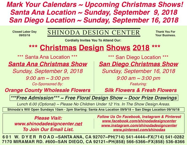 Save The Dates Upcoming Free Christmas Design Shows Santa Ana 09
